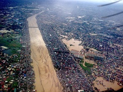 The flood brought by Typhoon Ketsana (Tropical Storm Ondoy) in 2009 caused 484 deaths in Metro Manila alone.