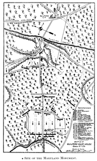 1893 Map of the battlefield, Guilford Courthouse battleground company