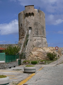 Watchtower in Marciana Marina, Elba, built by the Republic of Pisa as a defence against Saracene pirates