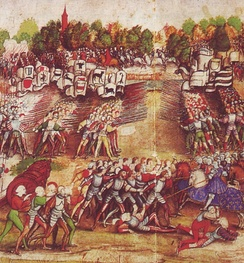 Swiss mercenaries and German Landsknechts fighting for glory, fame, and money at Marignano (1515). The bulk of the Renaissance armies was composed of mercenaries.