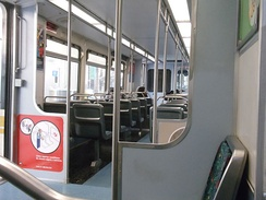 Interior of a Nippon Sharyo train.The Metro Expo Line used these trains for Phase 1 service.