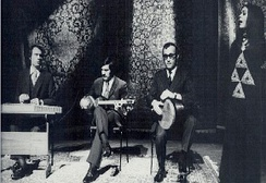 From left: Mohammad Heydari, Hooshang Zarif, Mohammad Esmaili and Parisa, 1976