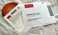 Netflix envelope and inner sleeve with DVD