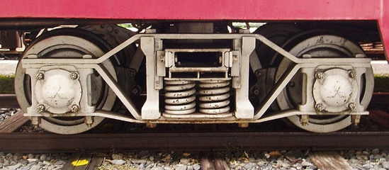Japanese archbar bogie with axleboxes
