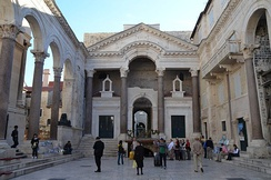 Modern view of the Peristyle in Diocletian's Palace (Split, Croatia)