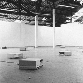 Maurizio Bolognini, Programmed Machines, Nice, France, 1992–97: hundreds of computers are programmed to generate an inexhaustible flux of random images which nobody would see