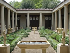 Reconstructed peristyle garden based on the House of the Vettii