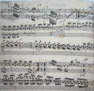 The first page of J.S. Bach's Toccata and Fugue in D minor, BWV 565