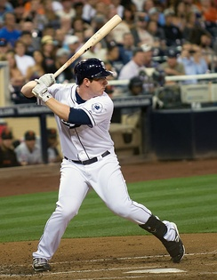 Gyorko batting for the San Diego Padres in 2013