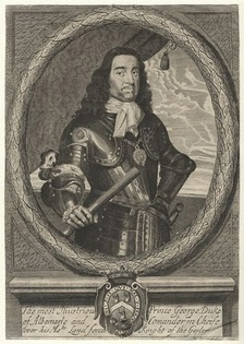Sir George Monck (1608–1670).  In the complicated politics of 1659, Cooper was in contact with Monck, encouraging him to march on London and then to recall the Long Parliament, and ultimately restore the English monarchy.