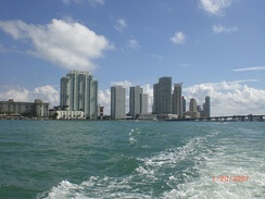 A portion of the southern part of the South Beach skyline as seen from Biscayne Bay. Photo: Marc Averette