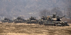 United States Forces Korea (pictured here in 2017) have been described as a tripwire force.