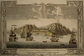 A View of the Town and Island of St Helena in the Atlantic Ocean belonging to the English East India Company (engraving c. 1790)