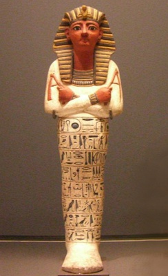 Shabti belonging to Pharaoh Rameses IV of the Egyptian Twentieth Dynasty, currently held in the Louvre in Paris