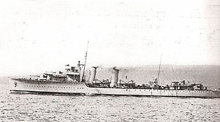 NRP Vouga, lead ship of the Vouga-class destroyers employed in the defense of the Portuguese sea lines of communications during World War II