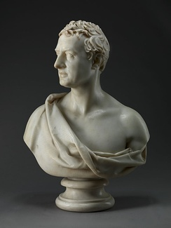 Marble bust of Castlereagh by Joseph Nollekens, 1821. Yale Center for British Art
