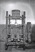 Water torture being executed in Sing Sing prison in 1860