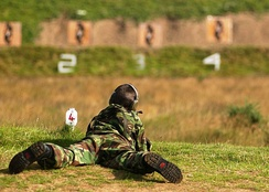 At the Wiltshire Army Cadet Force Annual Camp 2005, the cadets were allowed to fire live rounds at targets