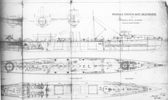 Builders' plans for the British Charger class, built 1894-95.