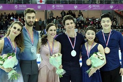 Medal ceremony at 2016 Grand Prix Final