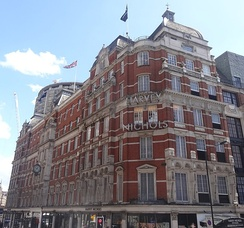 Harvey Nichols at the corner of Knightsbridge and Sloane Street in London