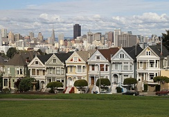 The Painted Ladies are an example of Victorian architecture found in San Francisco, California