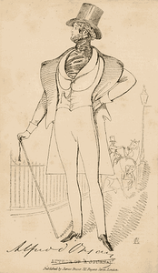 Image of Count d'Orsay, published by James Fraser.