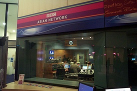BBC Asian Network studio at The Mailbox shopping centre, Birmingham