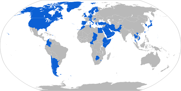 Map with BGM-71 operators in blue