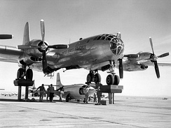 B-50 being used in the Bell X-1 test program.