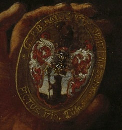 Coat of arms of the Berenberg family (detail, 1710)