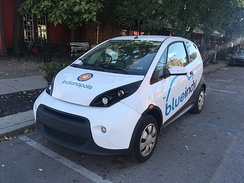 BlueIndy electric carsharing launched in 2015.