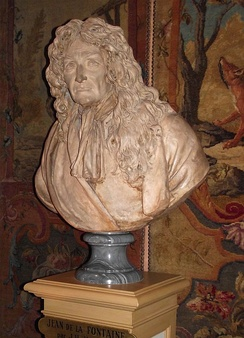 Jean-Antoine Houdon's bust of the fabulist at Vaux-le-Vicomte