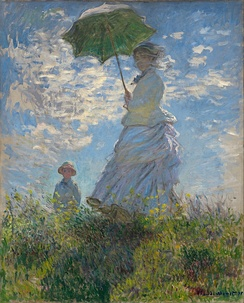 Claude Monet, Woman with a Parasol – Madame Monet and Her Son, 1875