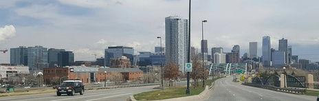 Speer Boulevard runs north and south through downtown Denver.