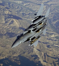 An F-15E over Afghanistan during Operation Mountain Lion, 2006.