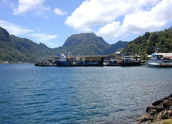 Pago Pago Harbor today and inter-island dock area.