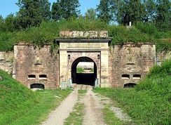 Entry to Battery Sanchey, near Épinal