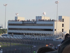 Gateway's circle track tower during the 2014 NASCAR Truck Series race.