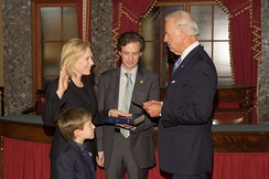 Gillibrand is sworn in for her second term by Vice President Biden (2011)