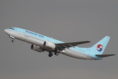 Korean Air Boeing 737-800 at Gimpo International Airport