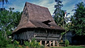 A traditional house in Nias (North Sumatra)
