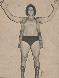André the Giant in the early 1970s
