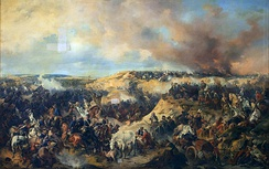 The Battle of Kunersdorf in Prussia