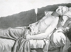 Les derniers moments de Michel Lepeletier, an engraving by Anatole Desvoge after the painting by Jacques-Louis David