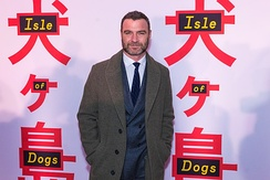 Schreiber at the March 2018 premiere of Isle of Dogs