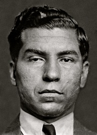 Mugshot of mobster Lucky Luciano in 1936