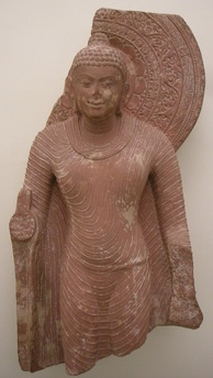 Sculpture of the Buddha from Mathura. 5th or 6th century CE