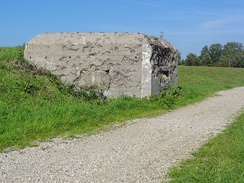 A bunker of the Peel-Raam Line, built in 1939.