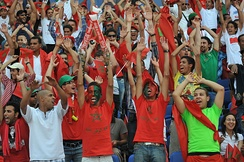 Moroccan football fans